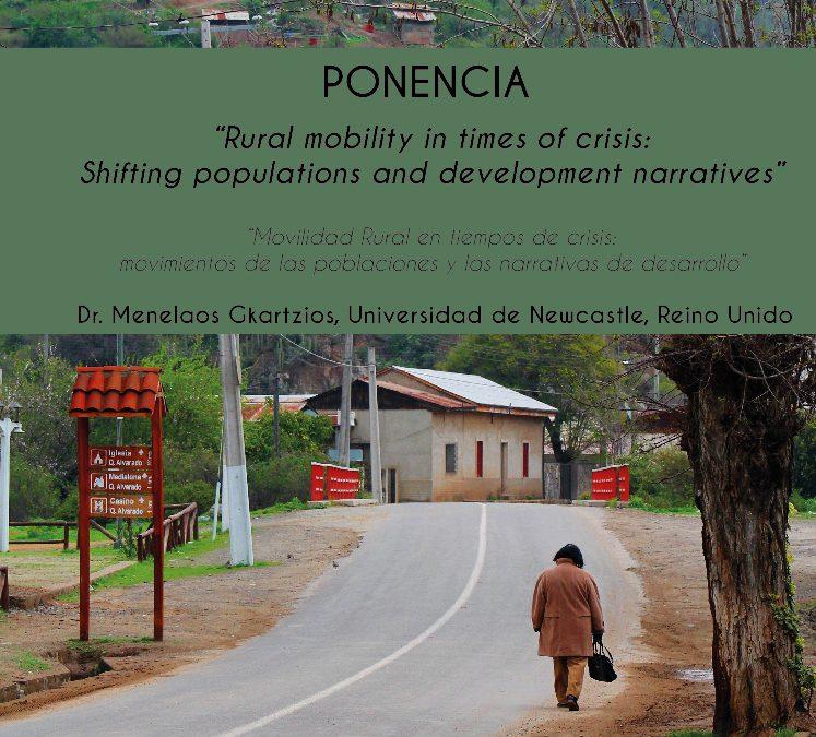 """Centro Ceres invita a participar de la Ponencia """"Movilidad Rural en tiempos de crisis: movimientos de las poblaciones y las narrativas de desarrollo""""."""