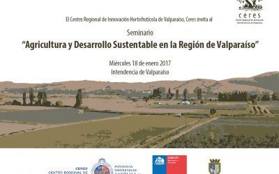 Centro Ceres realizará seminario de agricultura y desarrollo sustentable en la región de Valparaíso