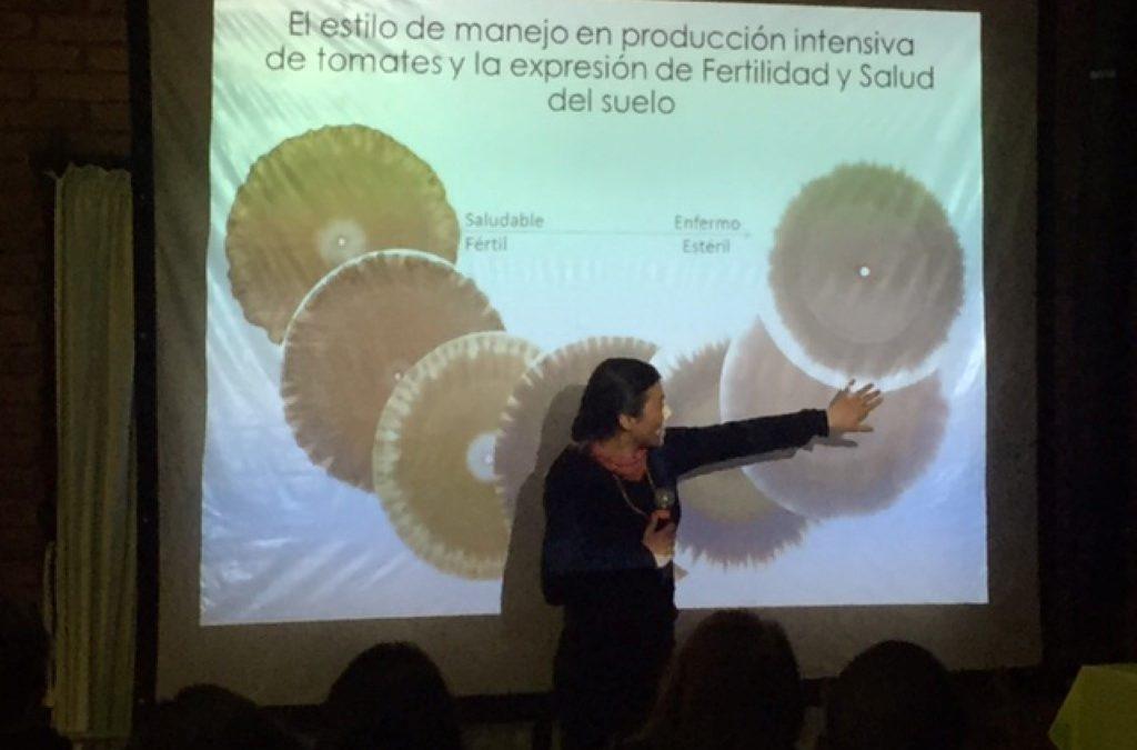 """Con charlas sobre cromatografía de suelos, Centro Ceres participa del encuentro Latinoamericano de Agricultura Biodinámica: """"Nutrición, Salud y Libertad""""."""