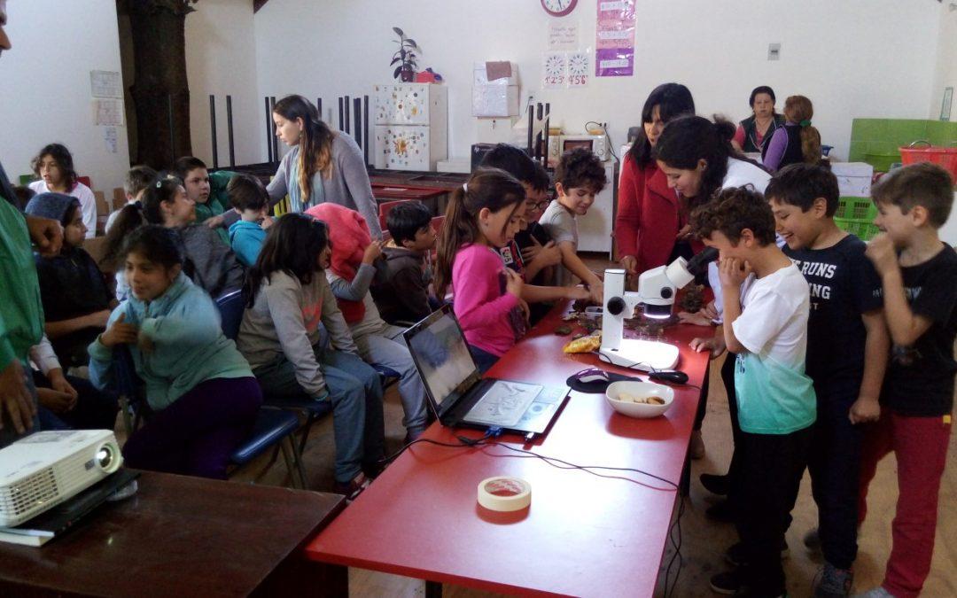 Centro Ceres participa en la Semana de la Ciencia de Explora CONICYT con 13 charlas a escolares y un día abierto en la Unidad Productiva Agroecológica.