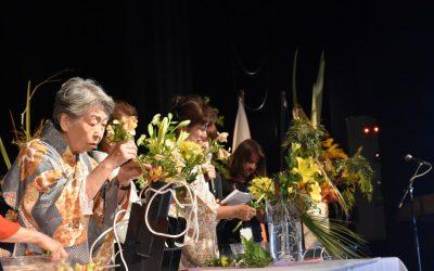 Con una alta convocatoria se realizaron los talleres de Ikebana: El arte floral japonés