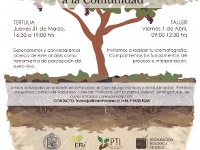 """El Centro Ceres invita a participar en el taller """"Acercando la cromatografía a la comunidad"""" actividad de difusión proyecto FIC-R 2015"""