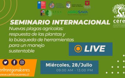 Investigadores internacionales y nacionales comparten experiencias para manejo sustentable de plagas agrícolas